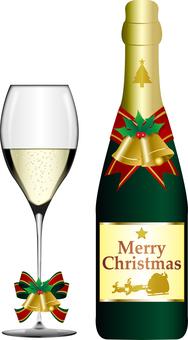 圣诞香槟杯&瓶