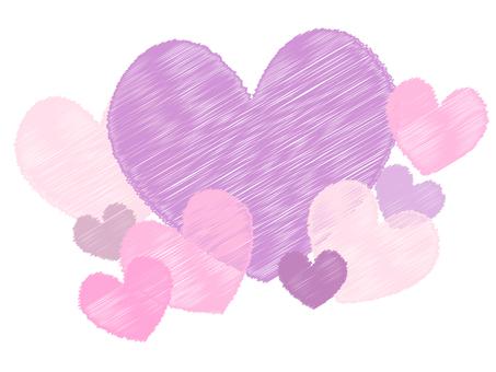 Line handwritten style heart