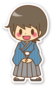 【Seal】 Boys * New Year's kimono