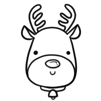 Reindeer's face drawing