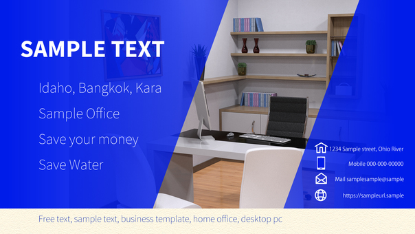 Business template office Example 16: 9