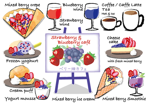 Mixed berry cafe menu stand