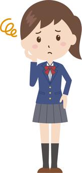 Girls | High School Students | Uniforms | Embarrassing Face