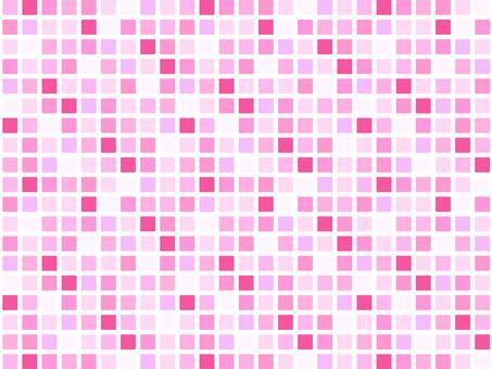 Pink color mosaic tile