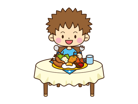 Family Illustration _ Meals 02
