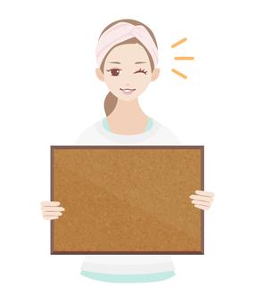 Skin Care Women Cork Board