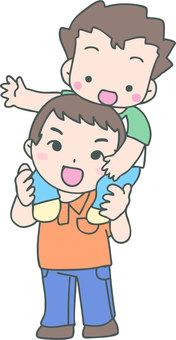 Katagurukuma (father and boy)