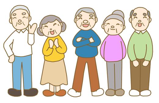 微笑爺爺奶奶①行茶