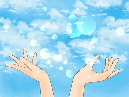손바닥과 하늘과 빛