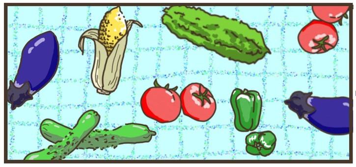 여름 야채 집합 ~