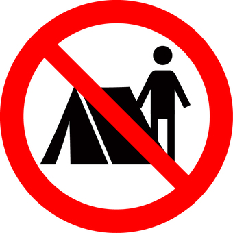 Camp (tent use prohibited) mark