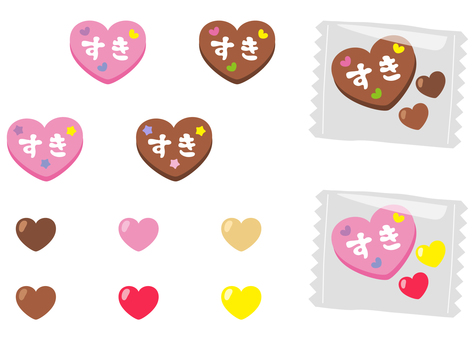 Chocolate material _ heart