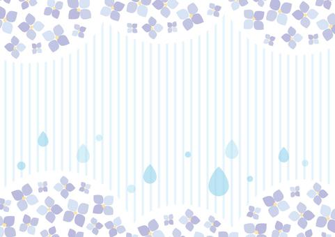 Hydrangea and raindrops 01
