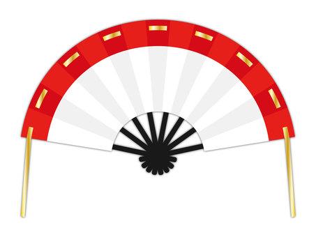 Fan white red