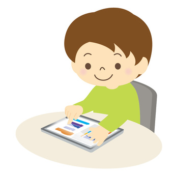 Child using a tablet-01