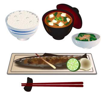 Seasoned salt-burnt meal set