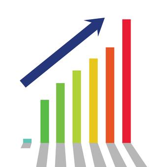 Increasing graph of sales
