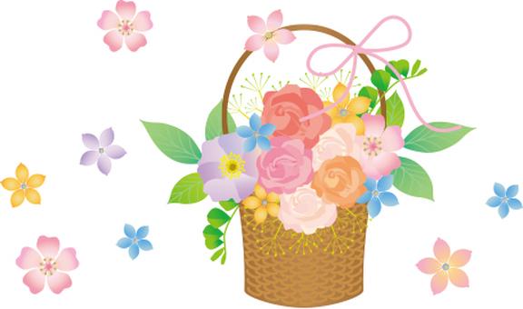 絲帶和花束籃子