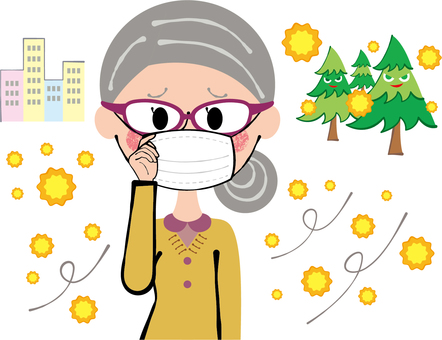 Glasses three-dimensional mask hay fever prevention grandmother