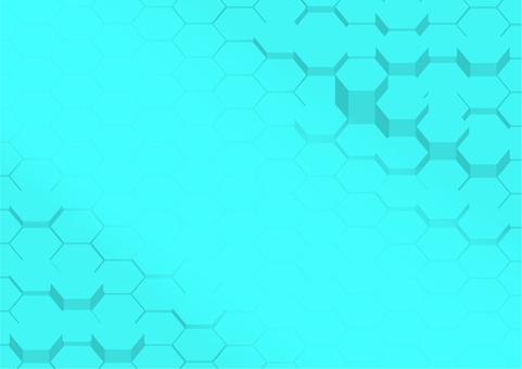 水色六角形デジタル幾何学模様抽象背景素材