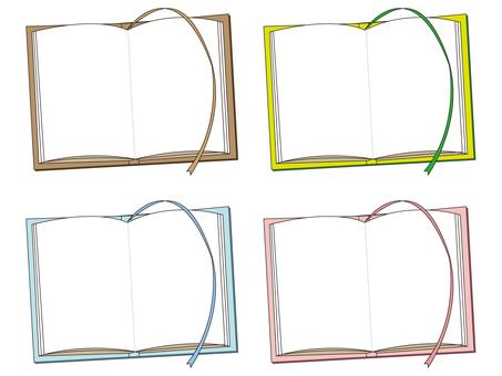 Open book frame