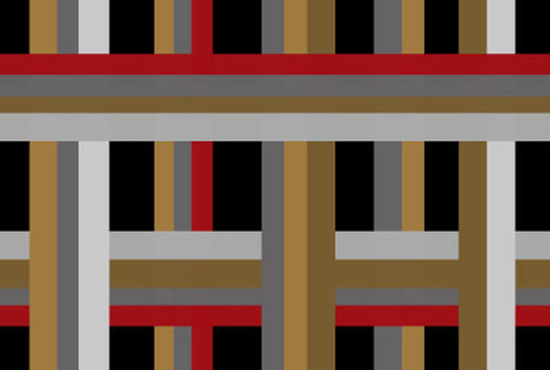 Stylish wallpaper of latticed black, red and beige