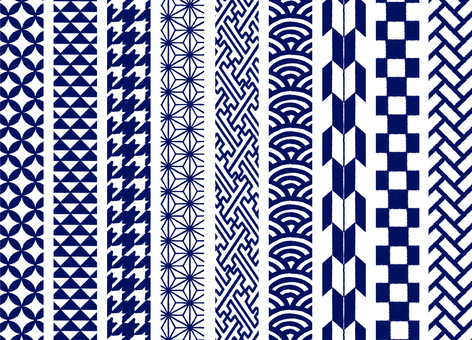 Vertical Japanese pattern line