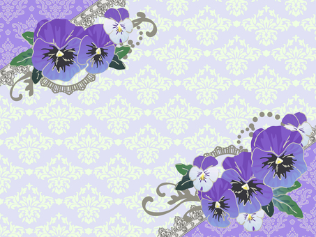 Spring decoration set Pansy viola purple