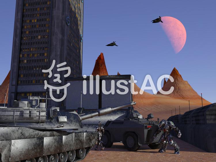 惑星基地アルファ・パトロールのイラスト