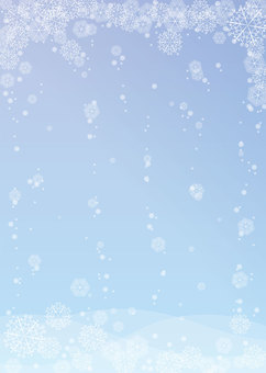 Snow, Crystallization, Background, A4 縦, Tu full pay