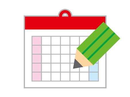 Calendar and pencil icon