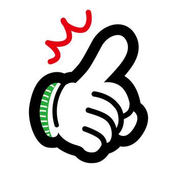 Gloves gloves hands hand guide mark
