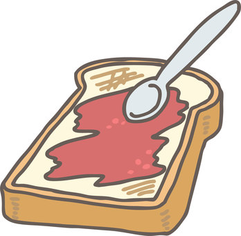 Bread with jam