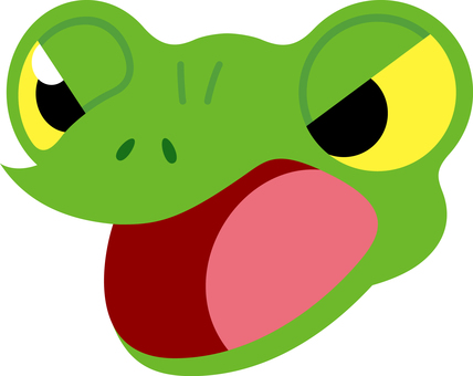 Shouting frog expression