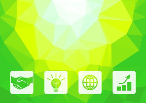 藍色和綠色數字業務矢量背景材料