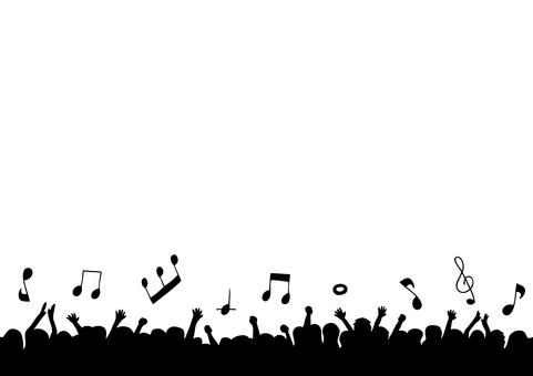 観客 音符