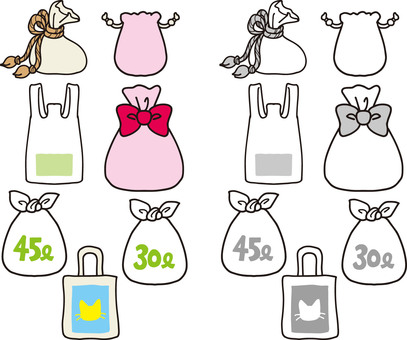 Cut collection of bags