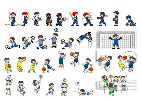 Sports set icon I Part 1 Boys