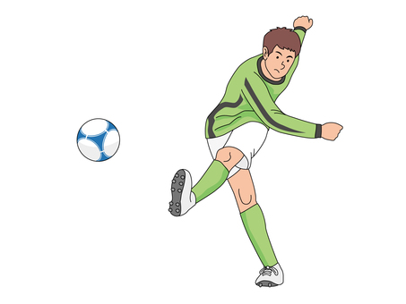 Soccer player who shoots out