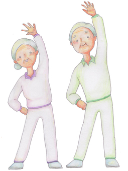The elderly who exercises