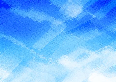Watercolor blue sky