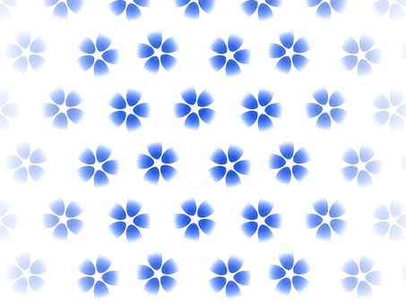 Blue flower background on white background