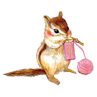 Squirrel knitting