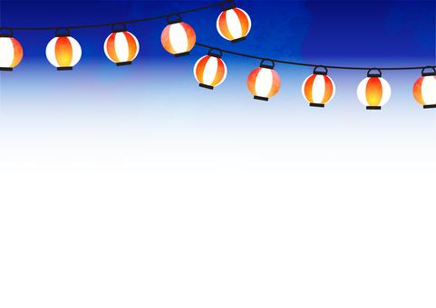 Summer night sky and lantern frame