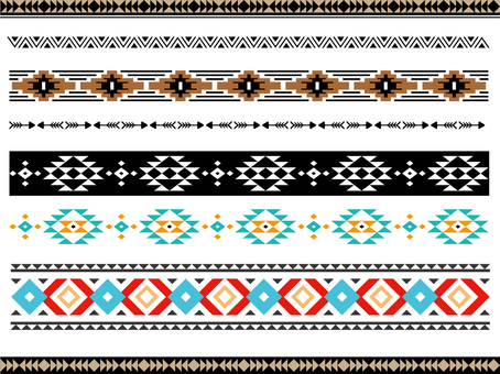 Stylish decorative borders (native pattern) 2