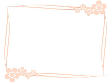 Flower frame Orange