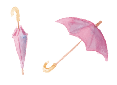 Watercolor illustration Umbrella