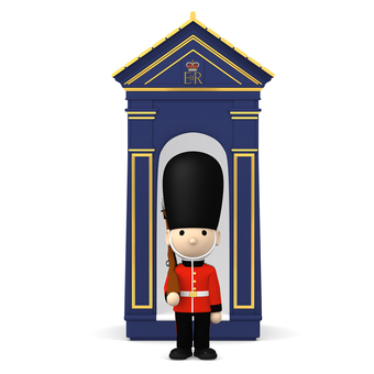 British guards 3D illustration