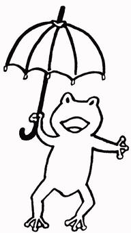 Rainy season frog