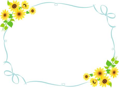 Sunflower ribbon frame